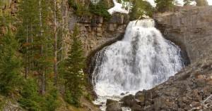 Waterfalls, swollen with spring runoff, YNP