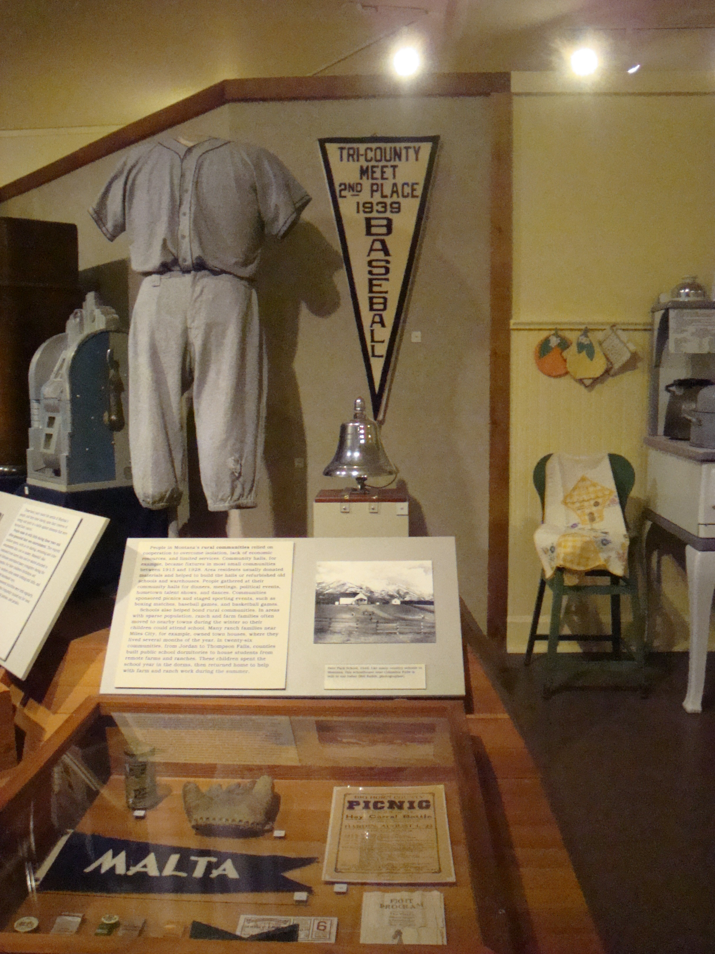 baseball display at the Montana Historical Society Museum