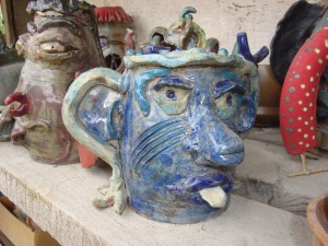 student work at the Archie Bray Foundation for the Ceramic Arts, Helena, Montana