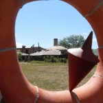 old brick kilns and clay sculpture at the Archie Bray Foundation for the Ceramic Arts, Helena, Montana