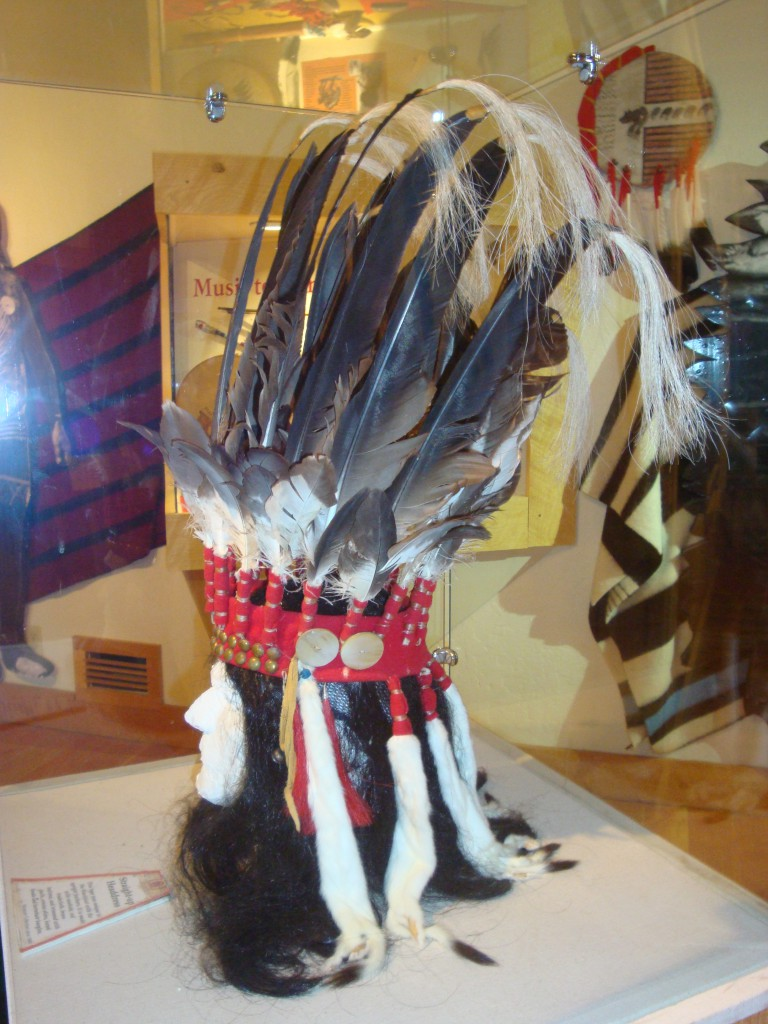 "Blackfeet ""straight up"" headdress, at the Old Fort Museum in Fort Benton."