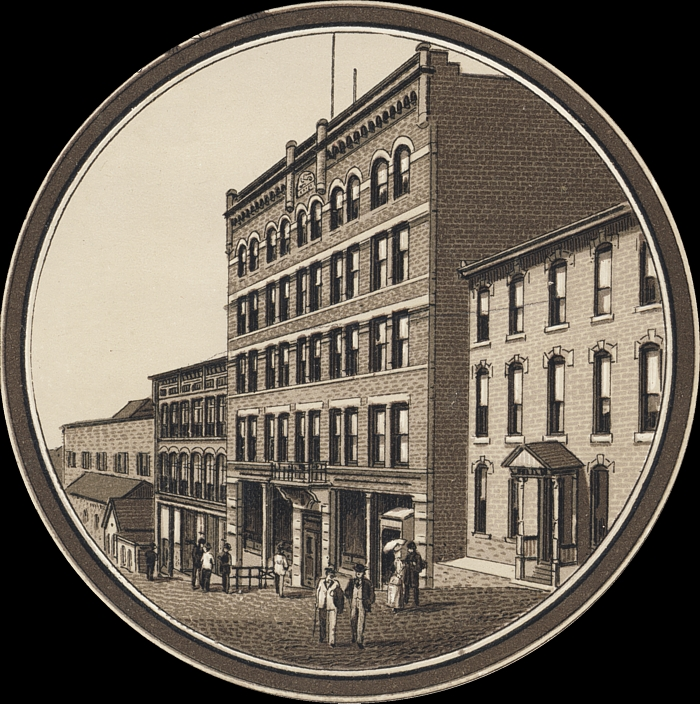The Hotel Helena, circa 1892. From helenahistory.org