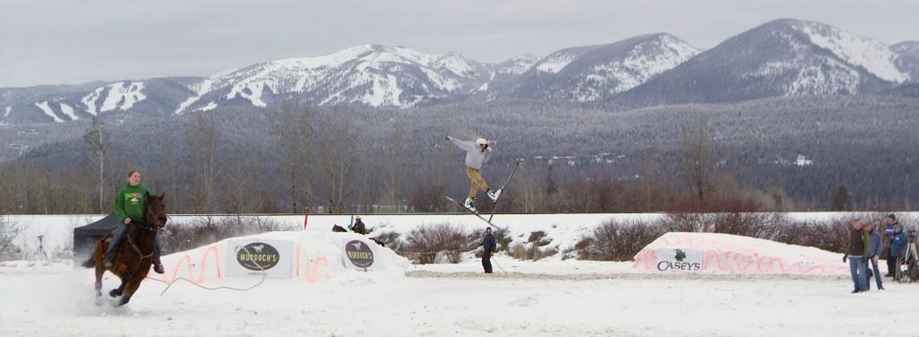 SkiJoring in Whitefish, Montana