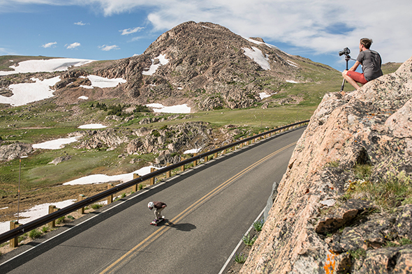 Longboarding down the Beartooth Highway. Photo from National Geographic