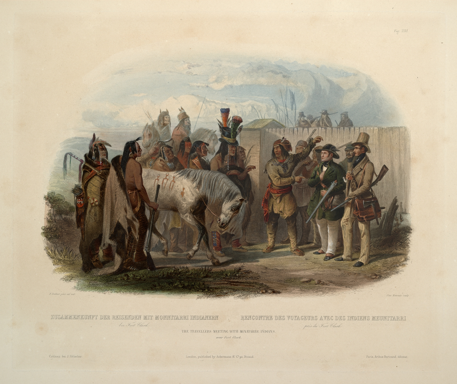 Karl Bodmer. This print demonstrates how Indians began incorporating Euro-American articles into their dress. From commons.wikimedia.org