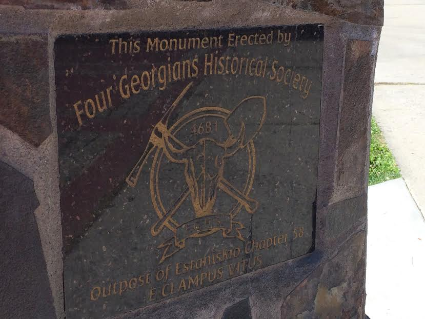 Four Georgians Memorial located on the Walking Mall