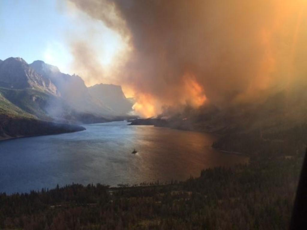 Reynolds Creek Fire July 25 - Image from North Fork Preservation Association