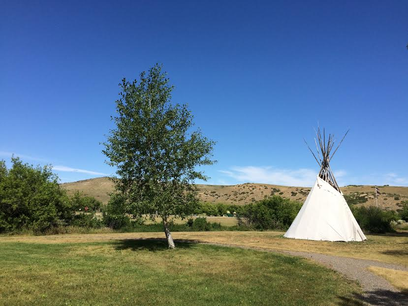 Tipi located on the grounds