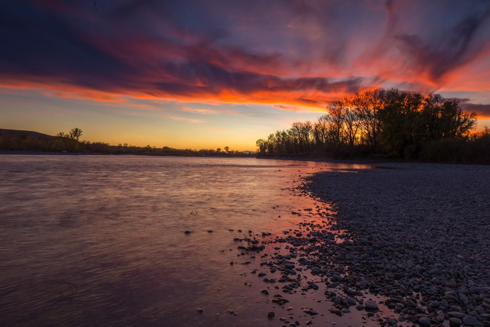 Yellowstone River, from the Visit Southeast Montana facebook page.